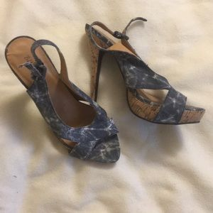 Jean colored strappy heels size 8